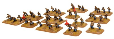 Cossack HQ & Platoon (dismounted)