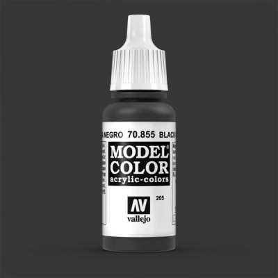 Model Color 205 Lasurschwarz (Black Glaze) (855)