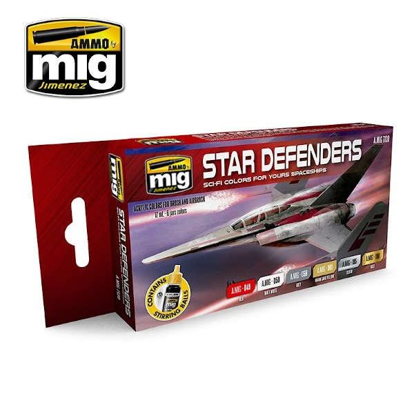 STAR DEFENDERS SCI-FI COLORS (6)