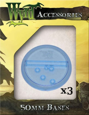 Blue Translucent Bases 50mm (3)