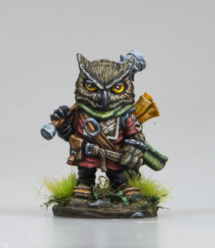 Owl Cleric with Mace