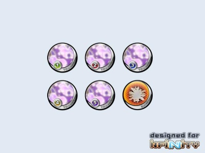 "Infinity Tokens Camo ""Purple"" (6)"
