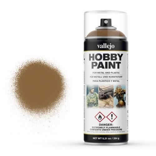 Vallejo Hobby Paint Spray Leather Brown (400ml.)
