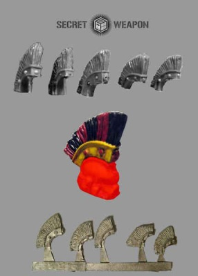 Conversion Bits: Large Roman Style Helmet Crests (5)