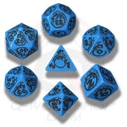 Blue & Black Dragons Dice (7)