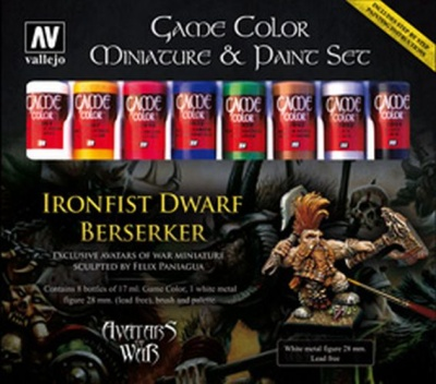 Game Color Miniature Paint Set AoW (8 +Figur + Pinsel)