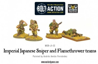 Imperial Japanese Sniper and Flamethrower teams (4)
