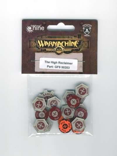 Warcaster Token Set - Menoth - The High Reclaimer (OOP)