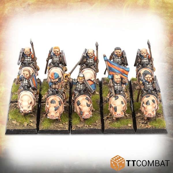 Halfling Heavy Pig Riders (10)