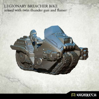 Legionary Breacher Bike: Armed with Twin Thunder & Flamer