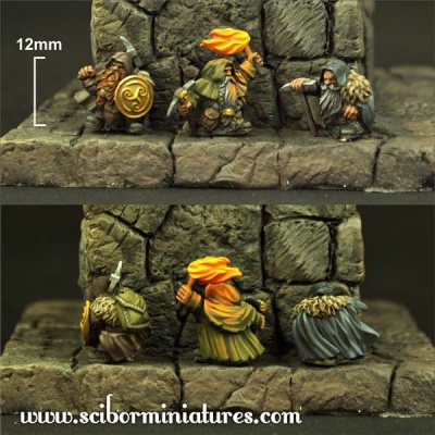 15mm Dwarves Miners (2)