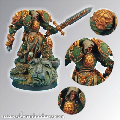 28mm Lion SF Knight (1)