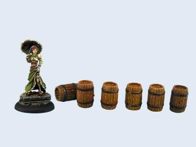 Small Wooden Barrels (6)
