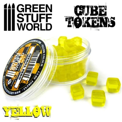 Cube tokens YELLOW