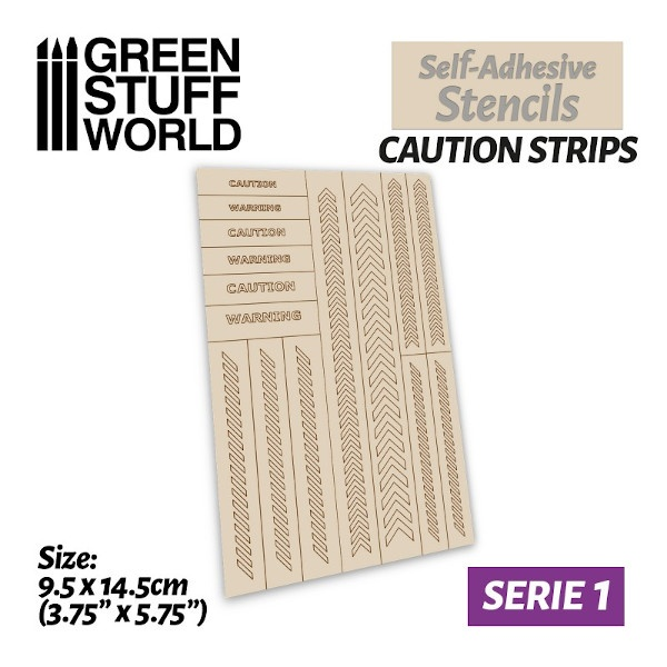 Self-adhesive stencils - CAUTION STRIPS