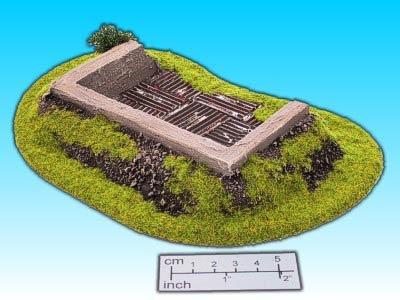 Geländestück Betonstellung