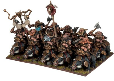 Dwarf Berserker Brock Riders Regiment (10)