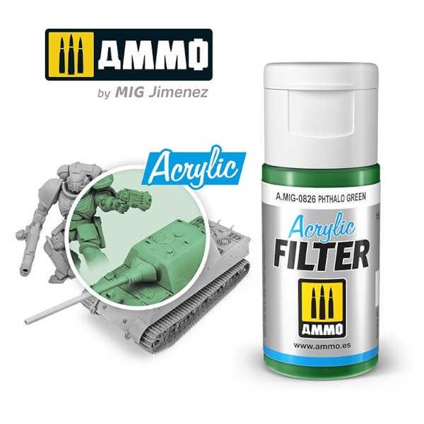 ACRYLIC FILTER Phthalo Green (15ml)