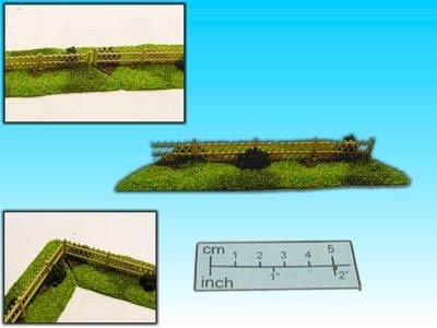 Geländestück Jägerzaun (15mm)