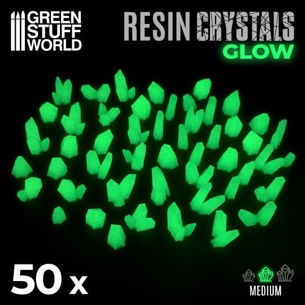 GRÜNE GLOW Harzkristalle - Medium (50)