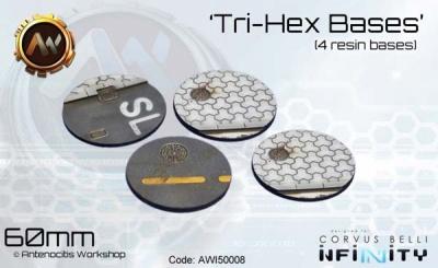 Tri-Hex Bases - 60mm round (4) OOP
