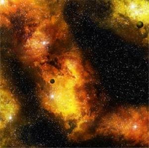 """Fiery Nebula Space Mat 36x36"""""""