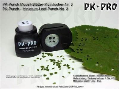 PK-Punch - Modell-Blätter-Motivlocher-Nr. 3 (4xBlätterMix)