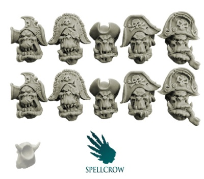 Freebooters Orcs Heads (10)