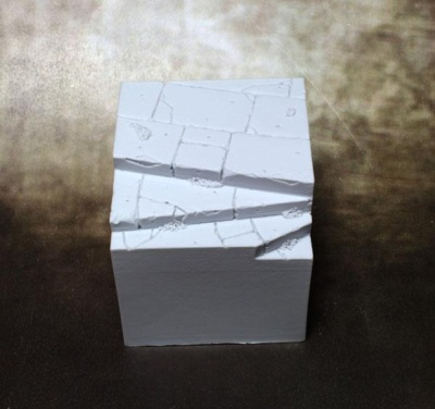 Resin Display Cube: 40mm Town Square 02