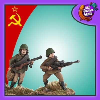 Female Soviet Infantry with LMG - inc loader (2)