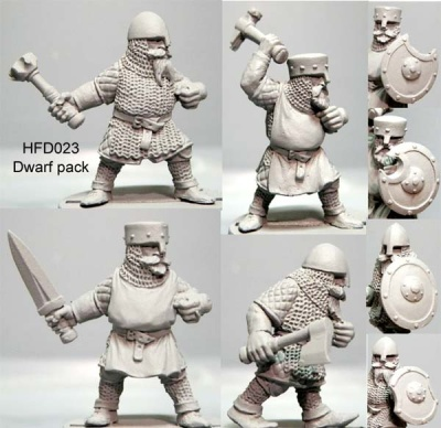 Dwarf Multi-Pack Hand Weapons (4)