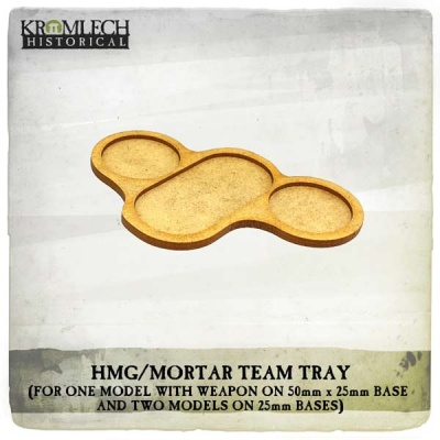 HMG/Mortar Team Tray (three models and weapon) (4)
