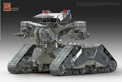 1/32 Scale: Terminator 2 Hunter Killer Tank