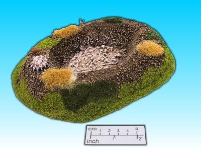 Geländestück Massengrab