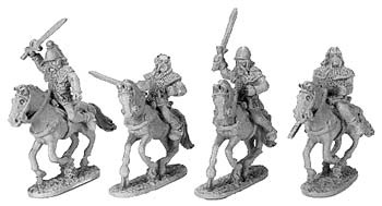 Gallic Armoured Cavalry with Shields (random 8 of 4 designs)