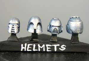 Sci-fi helmets (a) Sprue of 4 for Grymn