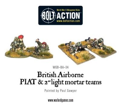 British Airborne PIAT and Light Mortar teams (2x2)