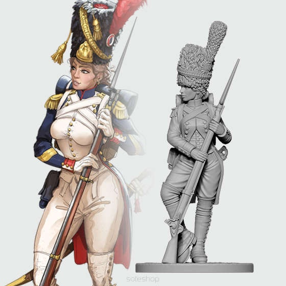Celine, the Old Guard Granadier (54mm)
