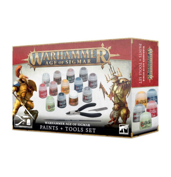 WH Age of Sigmar Paints + Tools Set