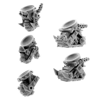 Ork Cyborg Bits Bionic Monobase (5)