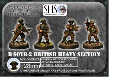 Heavy Section Assault Bren w. Gas Mask Heads (4)