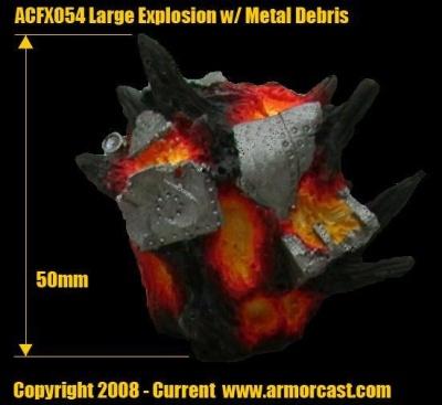 Large Explosion w/ Metal Debris