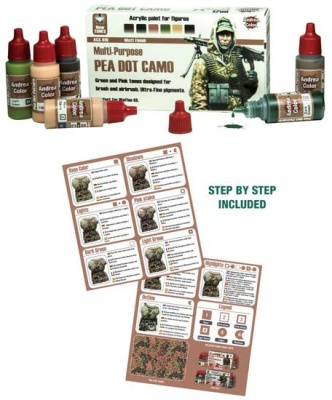 Pea Dot Camo Paint Set