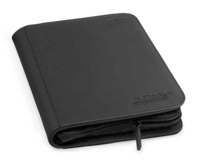 Ultimate Guard 4-Pocket Zipfolio Xenoskin Schwarz
