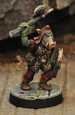 Orc with Hand-axe and Shield