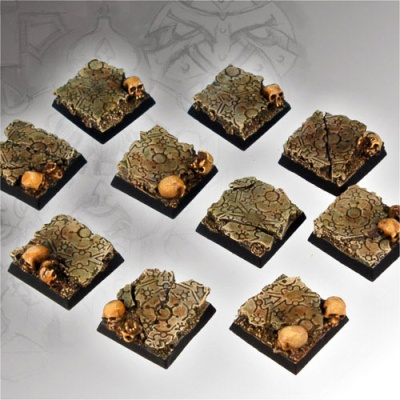 Chaos Ground Square Bases 20mm (5)