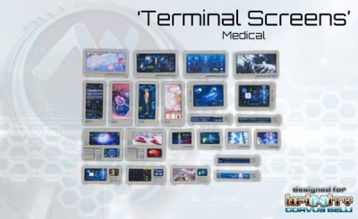 Medical Terminal  Computer Console Screens (23) 10001