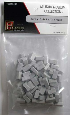 28mm Terrain: Large Grey Bricks