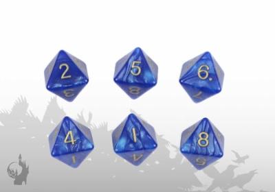 Würfelset (W8) (Blau)