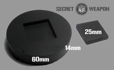 Resin Display Inset Puck - Square Insert 25mm